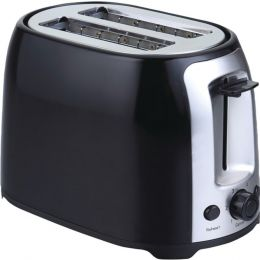Brentwood Appliances TS-292B 2-Slice Cool-Touch Toaster with Extra-Wide Slots (Black & Stainless Steel)