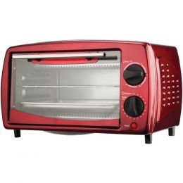 Brentwood Appliances TS-345R 4-Slice Toaster Oven & Broiler (Red)