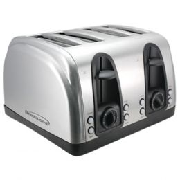 Brentwood Appliances TS-445S 4-Slice Toaster with Extra-Wide Slots