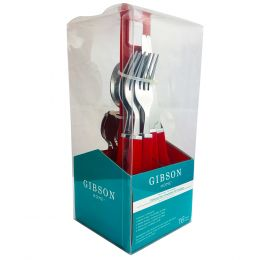 Gibson Altamara 16 Piece Flatware Set with Complimentary Red Stand