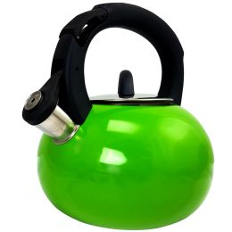 Mr Coffee Piper Shine Whistling Tea Kettle in Green