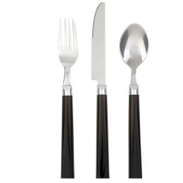 Gibson Home Palmdale12-Piece Flatware Set, Black