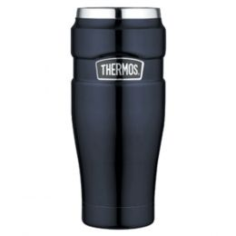 Thermos Stainless King™ Vacuum Insulated Travel Tumbler - 16 oz. - Stainless Steel/Midnight Blue