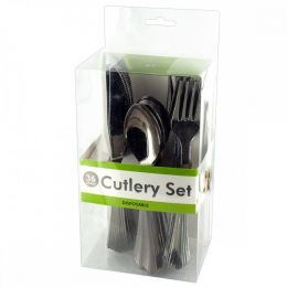 Disposable Silver Plastic Cutlery Set OL465