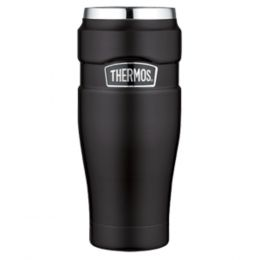 Thermos Stainless King™ Vacuum Insulated Travel Tumbler - 16 oz. - Stainless Steel/Matte Black